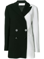 Marques Almeida Marques'almeida Two Tone Double Breasted Coat Polyester Spandex Elastane Viscose Black