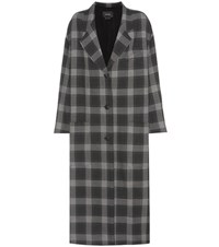 Isabel Marant Plaid Coat Grey