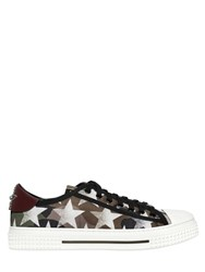 Valentino All Rock Star Print Nylon Sneakers