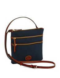 Dooney And Bourke North South Triple Zip Crossbody Navy