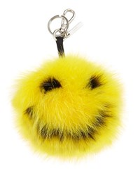 Fendi Happy Fur Monster Charm For Bag Yellow