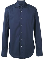 Ermanno Scervino Buttoned Shirt Men Cotton 54 Blue