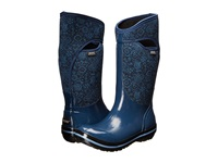 Bogs Plimsoll Quilted Floral Tall Indigo Women's Rain Boots Blue