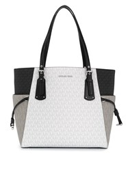 Michael Kors Collection Voyager Colour Block Tote Bag White