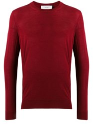 Pringle Of Scotland Slim Fit Knit Sweater Red
