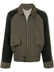 Cerruti 1881 Striped Bomber Jacket Brown