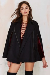 Nasty Gal Rayanne Cape Coat Black