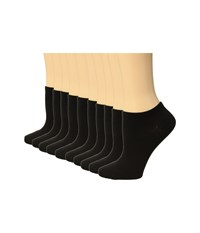 Steve Madden 10 Pack Solid Lowcuts Black Low Cut Socks Shoes