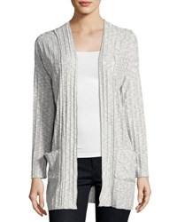 Montagne Space Dyed Pocket Cardigan Light Gray