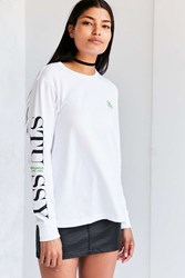Stussy World Wide Long Sleeve Tee White