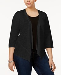 Alfani Plus Size Open Front Cardigan Only At Macy's Deep Black