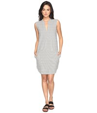 Carve Designs Arapahoe Dress Reed Caribbean Stripe Women's Dress Gray