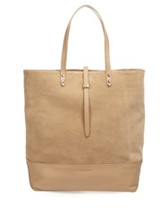 Tomas Maier North South Suede And Leather Tote