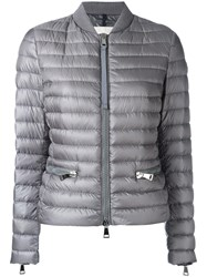 Moncler Padded Bomber Jacket Grey