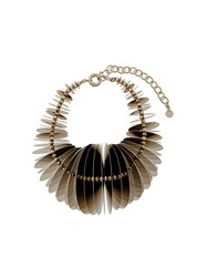 Y Project Printed Disc Necklace Gold