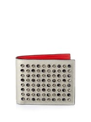 Christian Louboutin Paros Bi Fold Grained Leather Wallet Grey