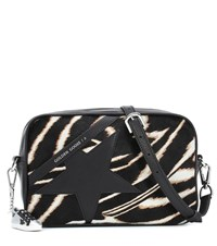 Golden Goose Star Calf Hair Shoulder Bag Black