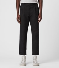 Allsaints Chiswell Cropped Slim Trousers Black