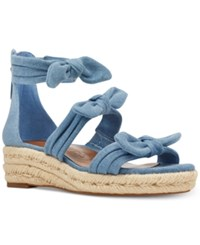 Nine West Allegro Wedge Sandals Women's Shoes Light Denim