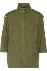 Nlst M65 Cotton Hooded Jacket Green