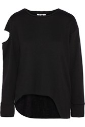 Lna Viscal Cutout Modal Blend Sweatshirt Black