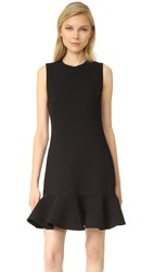 Victoria Beckham Flounce Hem Dress Black