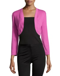 Carolina Herrera Cropped Sleeve Knit Bolero Violet