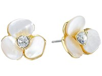 Kate Spade Disco Pansy Studs Cream Clear Earring White