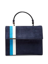 Tomasini Stratoss Suede Tote Navy Multi