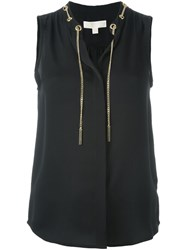 Michael Michael Kors Neck Chain Top Black