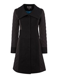 Pied A Terre Quilted Puffer Coat Black