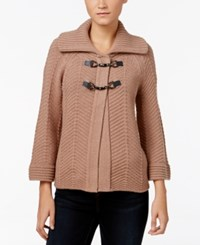 Jm Collection Toggle Cardigan Only At Macy's Acorn Heather