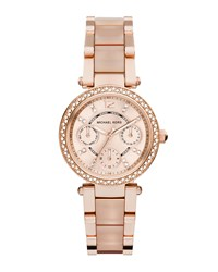 Mini Parker Rose Golden Stainless Steel Watch Michael Kors
