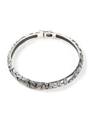 Ugo Cacciatori Leaves Engraved Bangle Metallic