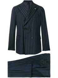 Gabriele Pasini Classic Double Breasted Suit Blue