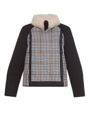 Moncler Gamme Rouge Shearling Collar Wool Jacket
