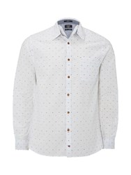 White Stuff Men's Duku Dobby Long Sleeve Shirt White