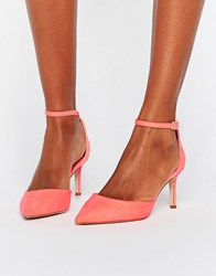 Asos Scotty Pointed Heels Coral Pink