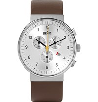 Braun Bn0035 Stainless Steel And Leather Watch Brown