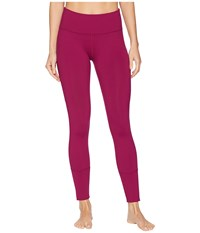 Lorna Jane Luster Core Ankle Biter Tights Beetroot Casual Pants Burgundy