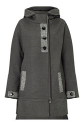 James Lakeland Hooded Quilted Coat Charcoal