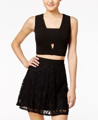As U Wish Juniors' 2 Pc. Lace A Line Dress Black