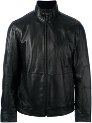Michael Kors Zipped Leather Jacket Black