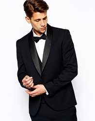 French Connection Slim Fit Shawl Tuxedo Jacket Black