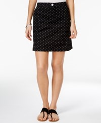 Karen Scott Dot Print Skort Only At Macy's Deep Black Combo