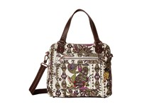 Sakroots Artist Circle Crossbody Satchel Ivory Spirit Desert Satchel Handbags Multi
