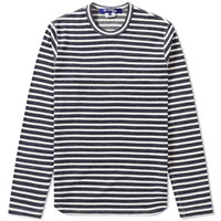Junya Watanabe Man Long Sleeve Stitch Border Tee Blue
