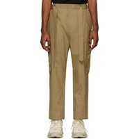 Juun.J Beige Cotton Cargo Pants