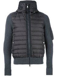 Moncler Hooded Puffer Jacket Grey