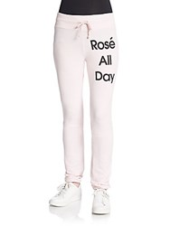 Wildfox Couture Rose All Day Lounge Pants Ghost Pink